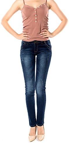 レディース デニム ジーンズ コットン 修身 スリム タイトパンツ 大きいサイズ 美脚 パンツ 205-127