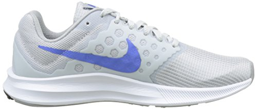 Nike Downshifter 7, Zapatillas de Deporte para Exterior para Mujer Plateado (Pure Platinum / Midnight Blue / Wolf Grey / White)