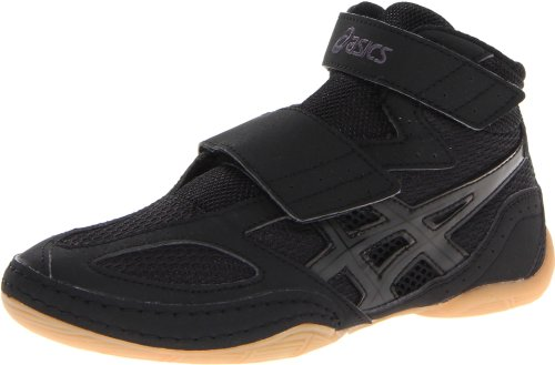 ASICS Matflex 4 GS Wrestling Shoe (Toddler/Little Kid/Big Kid),Black/Onyx,5 M US Big Kid
