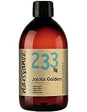 Naissance Kallpressad Gyllene Jojobaolja (nr 233) 500ml - Pure & Natural, Oraffinerad, Vegan, Hexan Free, No GMO - Idealisk för Aromaterapi och som Massage Base Oil