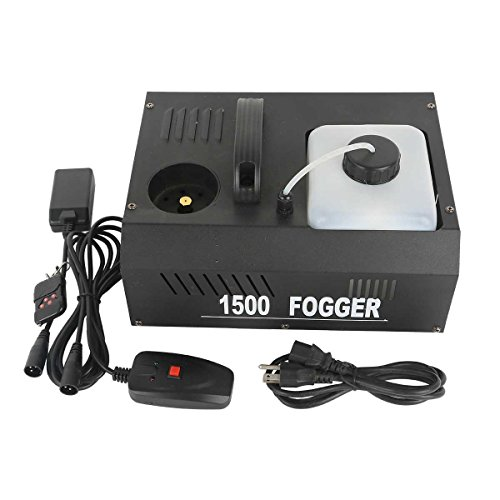 TC-Home 1500W Vertical Stage Fog Smoke Machine Upspray Fogger with Wireless Remote (Style A)