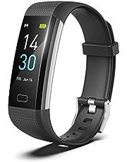 Pulsera Actividad, IP68 Impermeable Relojes Inteligentes con Monitor de Ritmo Cardíaco, Monitor de Presión Arterial y Calorías, Grabadora de Sueño, Podómetro, Relojes Deportes para Android y iOS