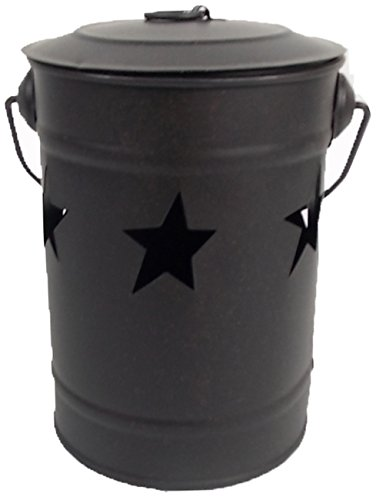 Craft Outlet Star Candle Bucket, 4 by 4 by 6-Inch, Black
