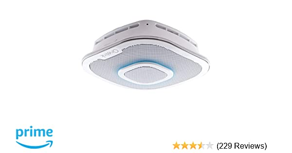 amazon com: alexa enabled smoke detector and carbon monoxide detector alarm  with premium home speaker | onelink safe & sound by first alert: home
