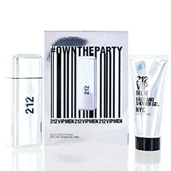 Carolina Herrera 212 Vip Men Et 100 Vp + Gel 100 Ml - 100 Mililitros: Amazon.es