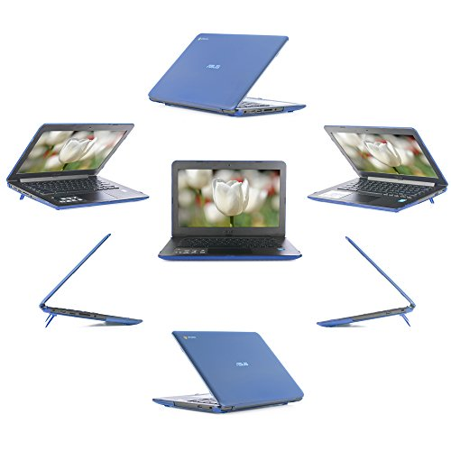iPearl mCover Hard Shell Case for 13.3 ASUS Chromebook C300MA / C300SA series laptop (Blue)