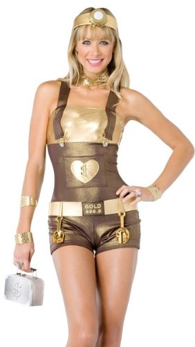 Leg Avenue Sexy Gold Digger Miner Girl Adult Halloween Costume S Womens U.S. Small (2-6) -