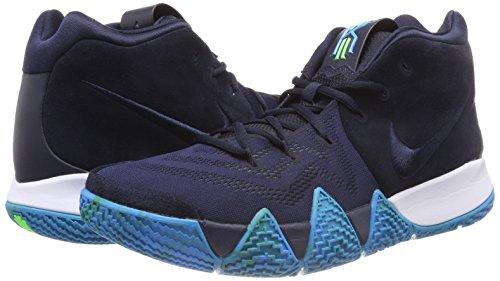 Nike Men's Kyrie 4 Basketball sneaker ( Dark Obsidian/Black, Size 10.5 M US)