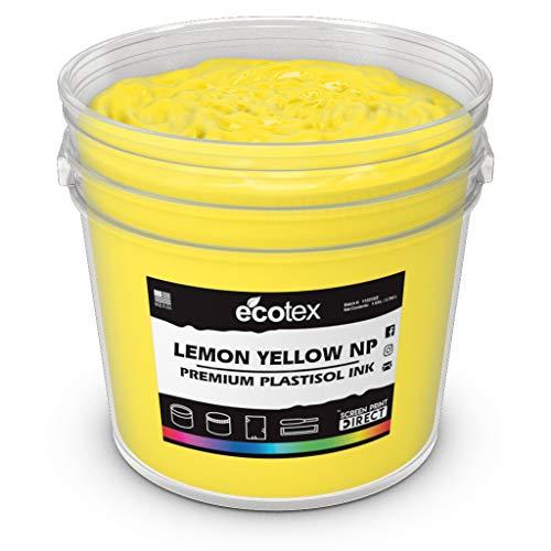 (Ecotex Lemon Yellow NP Plastisol Ink for Screen Printing - Non Phthalate Formula - All Sizes (Pint))