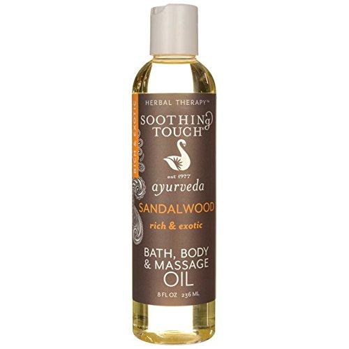 Soothing Touch Bath, Body and Massage Oil - Sandalwood 8 fl oz (236 ml) Liquid (Body Oil Sandalwood)