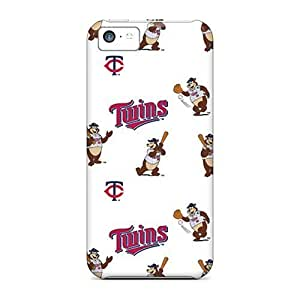 Iphone 5c Case Cover - Slim Fit Tpu Protector Shock Absorbent Case (minnesota Twins) by kobestar