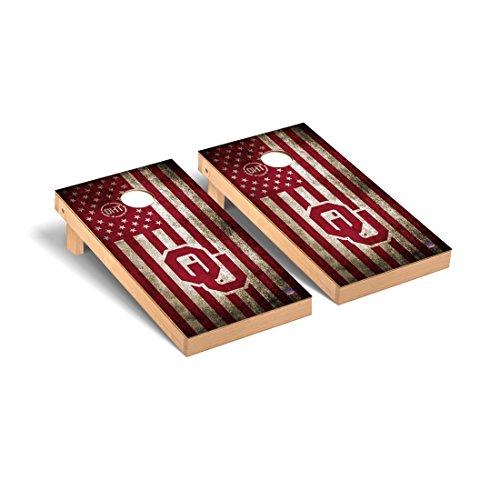 (Victory Tailgate Oklahoma Sooners Cornhole Game Set OHT Vintage Flag Version )