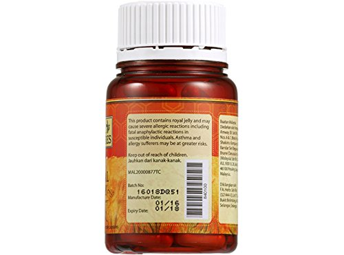 4 x Amway Bee Treasures Royal Jelly ( 60 Veg Cap )