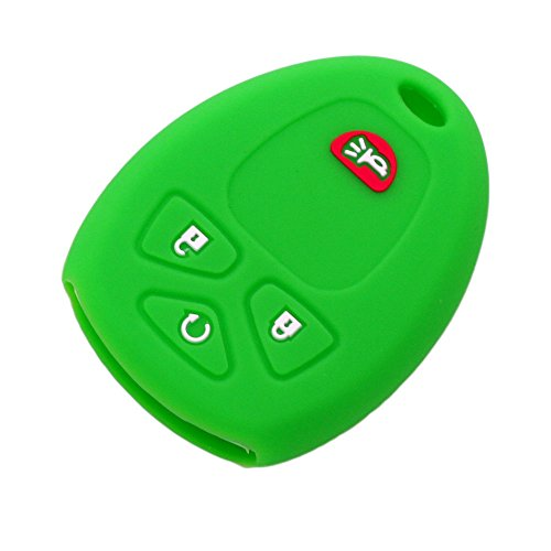 - SEGADEN Silicone Cover Protector Case Skin Jacket fit for CHEVROLET BUICK GMC 4 Button Remote Key Fob CV4607 Light Green