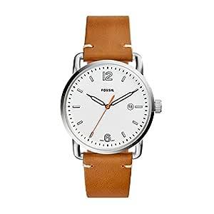 Fossil Men's The Commuter Analog Quartz/3 Hand Brown Watch, (FS5395)