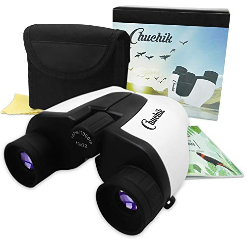 Chuchik Toys Best Binoculars for Kids, 10X22 Magnification. A Unique Gift for Boys and Girls Age 3-14. (Binoculars Top 10)