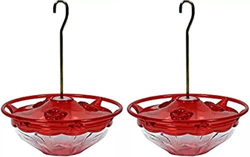 Aspects Mini HummBlossom Hummingbird Feeder, 4 oz, Rose (2 Pack) by Aspects Bird Feeders
