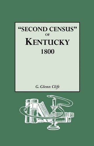 Second Census of Kentucky, 1800. a Privately Compiled and Published Enumeration of Tax Payers Appearing in the 79 Manuscript Volumes Extant of Tax Lis