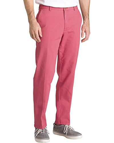 IZOD Mens Flat Front Saltwater Chino Pants 32W x 32L Saltwater red - Izod Mens American Chino