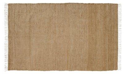 VHC Brands 15060 Natural Tan Farmhouse Classic Country Flooring Burlap Chindi Rag Rug, 5 x 8