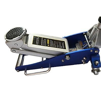 1.5 Ton Aluminum Compact Size Professional Speed Racing Car Auto Floor Jack Low Profile Rapid Pump Lift 3000 Lb