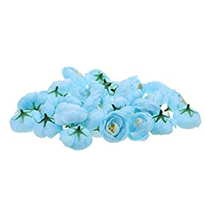Jili Online Pack of 30pcs Artificial Camellia Flower Craft Silk Heads Wedding Decor 12 Colors - Blue, 4cm 22