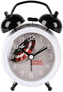 KEHUITONG 目覚まし時計、電子ミュートナイトライト/マーベルパーソナリティレイジークロック、学生用時計、ベッドルームベッドサイド時計、電池式 最新スタイル (Color : White)