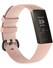 Replacement Sport Bands Compatible for Fitbit Charge 3 SE Strap Women Men, 13 Colors