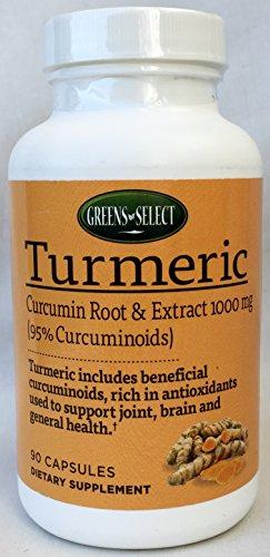 GREENS SELECT Turmeric Dietary Supplement (90 capsules)