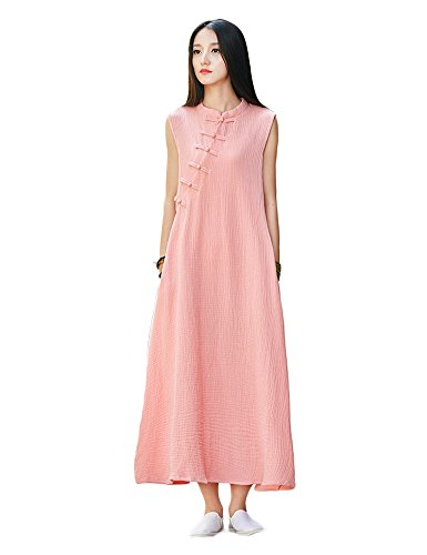Idopy Damen Kleider Sommer Casual Shirts Drei Farben Rosa sgDjK