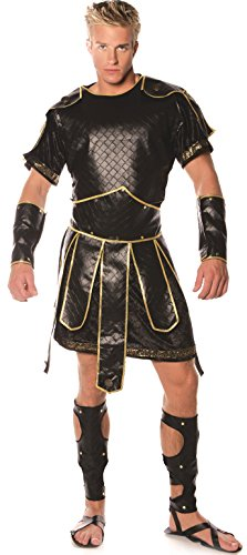 Underwraps Men's Spartan, Black/Gold, One Size -