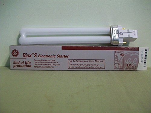 Four 13 watt Biax Compact Fluorescent Lamp, F13BX/E/850 2 PIN Flicker Free ;from#67fbirdgold