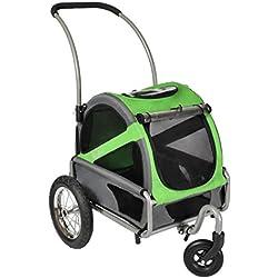 DoggyRide Mini Dog Stroller, Spring Green/Grey
