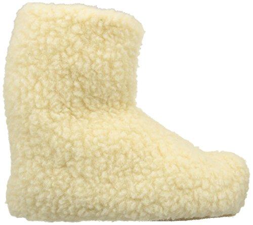 Woolsies Yeti Natural Wool Slipper Booties - Zapatillas de casa unisex Beige (Cream)