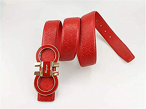 b2f2cc6eb3af Salvatore Ferragamo Adjustable Belt Red with Gold Buckle - Import It All