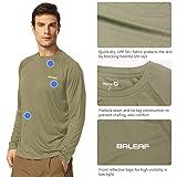 BALEAF Men's Long Sleeve Shirts Dri Fit Lightweight UPF 50+ Sun Protection SPF T-Shirts Fishing Hiking Running Cycling Slate Green Size S