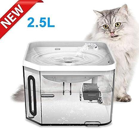 Amazon.com: UNIWILAND - Fuente de agua para perro o gato, 2 ...