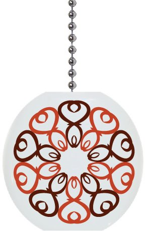 Arabesque Pattern #1 Solid Ceramic Fan Pull