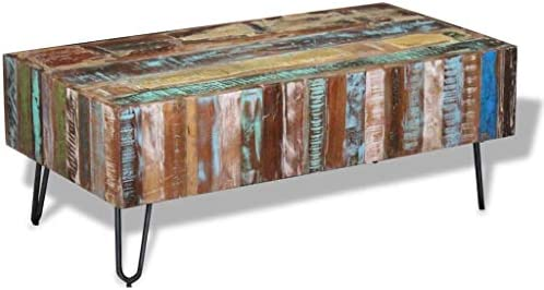 vidaXL Solid Reclaimed Wood Coffee Table Side Accent Table Living Room Furniture