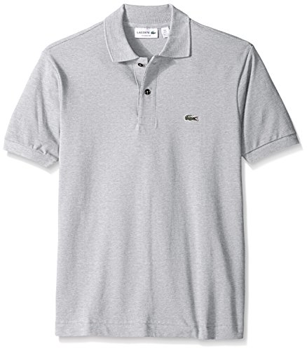 Lacoste Men's Classic Short Sleeve Chine Pique Polo Shirt, Silver, 4X-Large