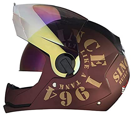 74c9f1c7 Steelbird SBA-2 TANK 1964 Dual Visor with Outer Night Vision Visor in Matt  Finish (Large 600MM, Maroon/Gold): Amazon.in: Car & Motorbike