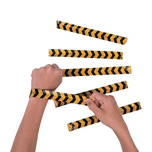 Fun Express Construction Zone Slap Bracelets - 12 pcs -