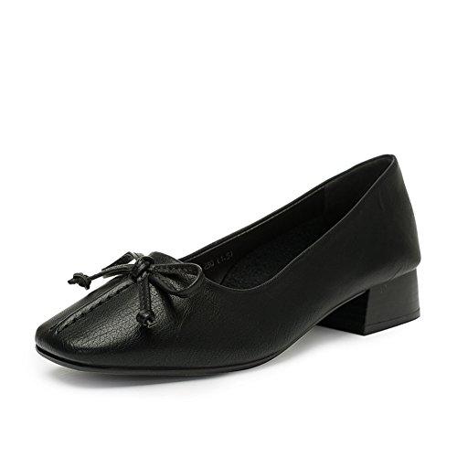 PUMPS Lady Kitten Heel,Thick Heel Square Cap Foot Schuhe A