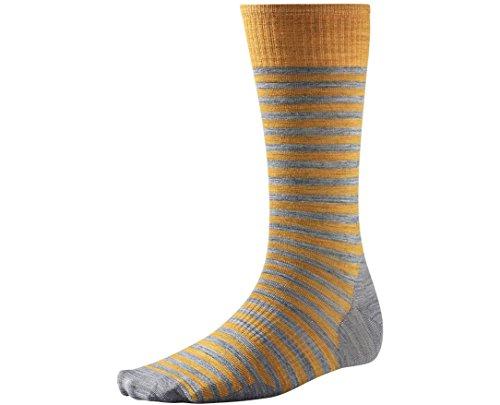 Smartwool Men's Stria Crew Socks (Light Gray Heather) Medium