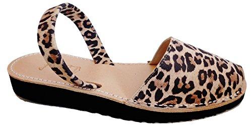 avarcas forme Menorquinas Avarcas Zebra Leopardo cm 5 claro Plate … menorquínas et coin 2 léopard 44wvr