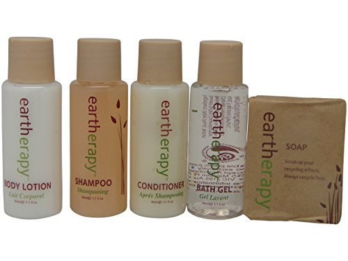 Eartherapy Travel set 2 Shampoo, 2 Conditioner, 2 Lotion, 2 Bath Gel,and 2 soap by Eartherapy