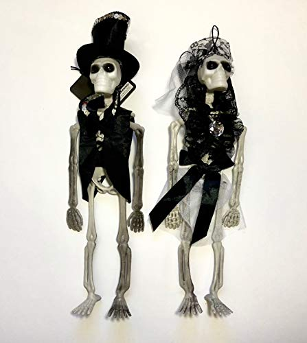 Day of the Dead Dia de los Muertos Halloween Bride and Groom Skeletons
