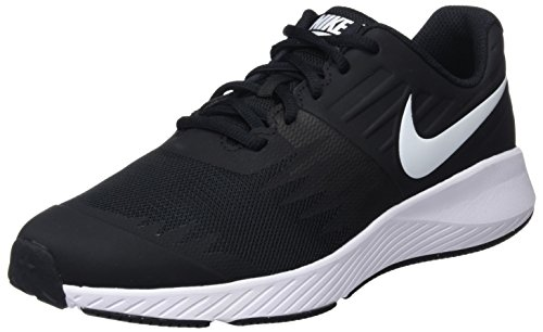 Nike Kids' Grade School Star Runner Running Shoes (5, Black/White)