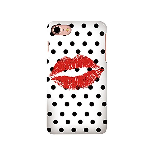 Sexy Red Lip Polka Dots Pattern Iphone 7 Case, Fashion Lip Design Iphone 7G 4.7Inch Protective (Lip Cell Phone Case)