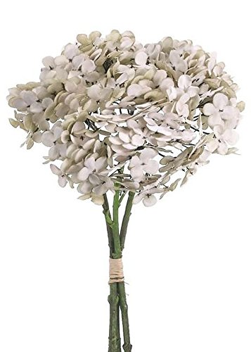 Hydrangea Silk Flower Bundle in Antique Two Tone Beige13'' Tall x 7''-8'' Diameter by Allstate Floral & Craft